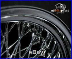 8,5x18 Jante Roue à Rayons 80 Rayons Harley Davidson Softail Evo Neuf