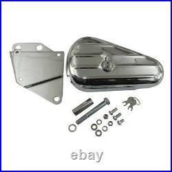 Boîte à Outils, à Outil Chrome avec Support Gauche pour Harley Davidson Softail