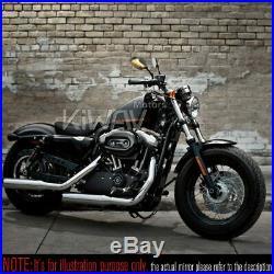 Carbone Lucifer led Rétroviseur 2couleur séquentiel pour Harley Dyna Softail