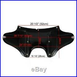 Carenage de Phare pour Harley Davidson Softail Deluxe/ Slim 05-18 noir