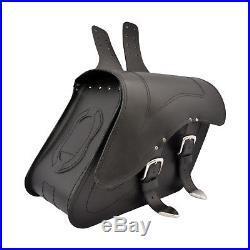 Cuir Moto Sacoches Sacoche Harley Davidson pour Fatboy Dyna C29A