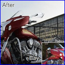 Gold moto rétroviseurs CNC Cleaver look pour Harley-Davidson softail deluxe