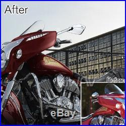 Gris moto rétroviseurs CNC Cleaver look pour Harley-Davidson softail deluxe