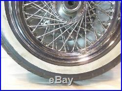 Harley Davidson Evo Softail Heritage Classic Chrome Lacé Jante Roue Avant