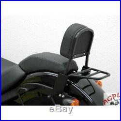 Harley Davidson Softail Blackline-slim-11/14-sissy Bar Passager + Porte Paquet-6
