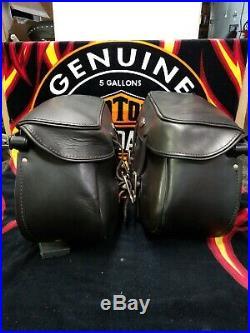 Harley-Davidson Softail Rigide Cuir Sacoches 91540-00 91541-00