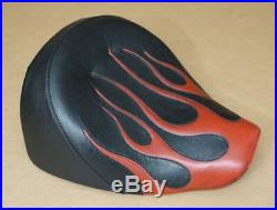 Harley Original Solo Seat Banquette Softail Rocker Fxcw Siège Custom Flamed