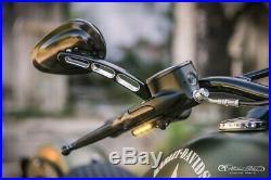 Heinzbikes DEL Clignotant Guidon Harley Davidson Softail Fat Boy 2018 Noir