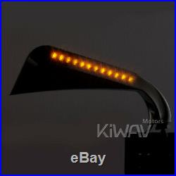 KiWAV rétroviseur AXE chromé LED indicator pour Harley-Davidson softail deluxe