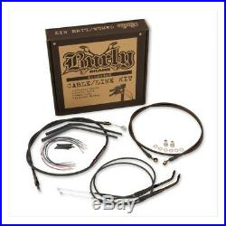 Kit D'extensions Cables Et Durites 16 Burly Softail De 2011 A 2015 Noir