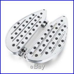 Marchepieds aluminium pour Harley Davidson Touring et Softail 86-18