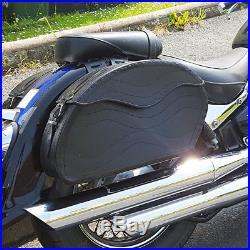 Moto cuir noir Sacoches SACOCHE HARLEY DAVIDSON pour Fatboy