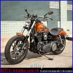 Pair rétroviseur Achilles noir + orange CNC pour Harley-Davidson softail deluxe