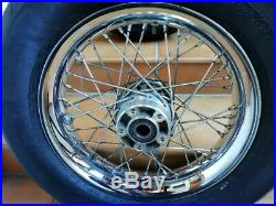 Paire De Roues Ballon 16 Pouces A Rayons Av & Ar Harley Davidson Softail Deluxe
