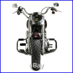 Pare carter pour Harley Davidson Heritage Softail Classic 00-17 Mustache chrome
