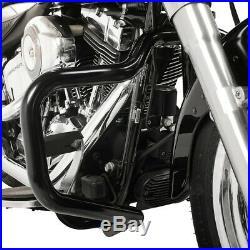 Pare cylindre Mustache pour Harley-Davidson Softail 2000-2017 noir