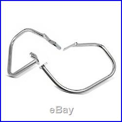 Protections de sacoches pour Harley Davidson Softail 00-17 chrome