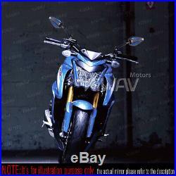 Rétroviseur Achilles 3D noir + bleu pour Harley softail Cross Bones chopper