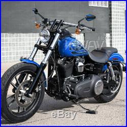 Rétroviseur Achilles noir + bleu réglable pour Harley-Davidson softail deluxe