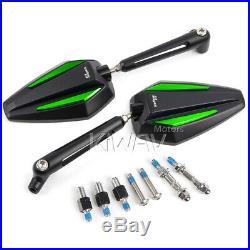 Rétroviseur Achilles noir + vert réglable pour Harley-Davidson softail deluxe