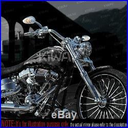Rétroviseur chromé clignotant style arrow led pour Harley dyna softail sportster