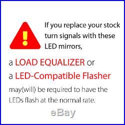 Rétroviseur cligno LED séquentiel noir 5/16 adpater pour Harley dyna softail