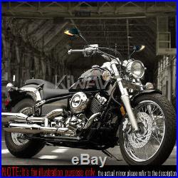 Rétroviseur séquentiel dual LED Lucifer noir 5/16 pour Harley softail springer