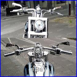 Rétroviseurs style AXE chromé avec LED pour Harley-Davidson softail deluxe