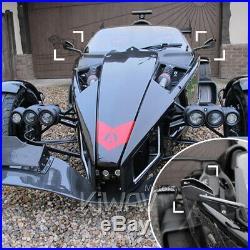 Rouge moto rétroviseurs Cleaver look pour Harley-Davidson SOFTAIL FAT BOY LO