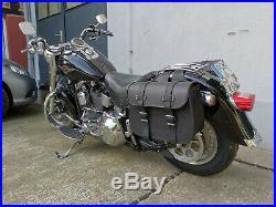 Sacoches de Selle Moto Apollo Noir Harley Davidson Fatboy Heritage Softail