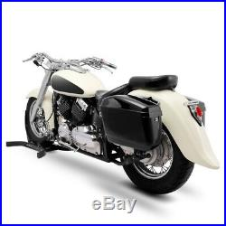 Sacoches rigides Nevada 20l pour Harley Davidson Softail Deuce/ Fat Bob/ Slim