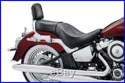 Selle Biplace Sundowner Harley-davidson Softail 2018 Cuir Noir