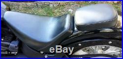 Selle Solo Le Péra Bare Bone & Pouf Amovible Pour Harley Davidson Softail