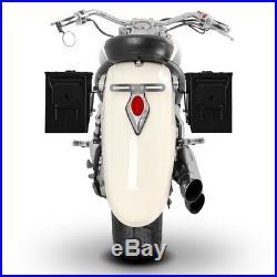 Set de Sacoches laterales PA108 pour Harley Davidson Softail Fat Bob (FXFB) noir