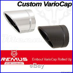 Silencieux échappement Remus Custom Noir Harley-Davidson Softail FS2 07-/13-/14
