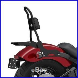 Sissy Bar CSM Porte Bagages pour Harley-Davidson Softail Fat Bob 18-19 Noir