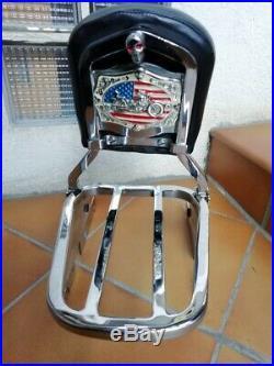 Sissy Bar Complet + Porte Bagage Amovible Harley Davidson Softail